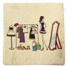 Cotton Linen Fashion Girl Pattern Sofa Bed Car Pillow Case