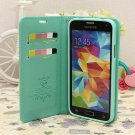 Cherry Flip PU Wallet Leather Case For Samsung Galaxy S5 SV i9600