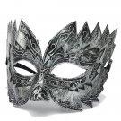 Men Vintage Jaggedly Engraved Eye Mask Venetian Masquerade Mask