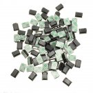100 Pcs Black Plastic Wire Tie Rectangle Cable Mount Clip Clamp Self-adhesive