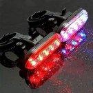 Bike Bicycle Cycling 5 LED Warning Tail Rear Flash Light Lamp