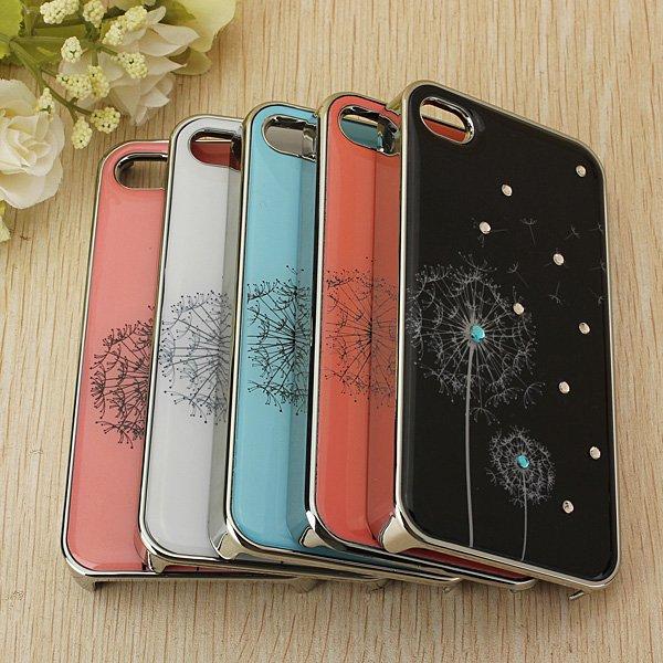 Dandelion Crystal Diamond Hard Back Cover Case Skin For iphone4 4s