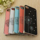 Dandelion Crystal Diamond Hard Back Cover Case Skin For iphone4 4s