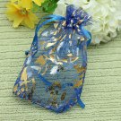 100pcs Drawstring Rose Organza Gift Bag Jewellery Candy Pouch Bag