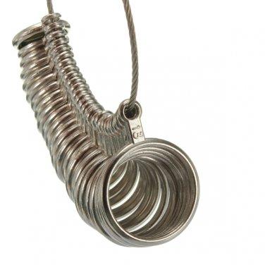 27pcs Metal Finger Ring Sizer Measure Gauge Jewelry US Size 1 to 13