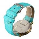 Antique Women Flower PU Leather Strap Antique Quartz Wrist Watch