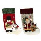 Christmas Santa Claus Snowman Stockings Gift Bag Christmas Decoration