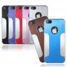 Luxury Aluminum Brushed Chrome Hard Case For iPhone 5