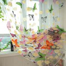 Butterfly Print Sheer Window Curtains Home Decoration