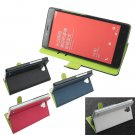 Hit Color Flip PU Leather Case For Xiaomi Hongmi Redmi Note