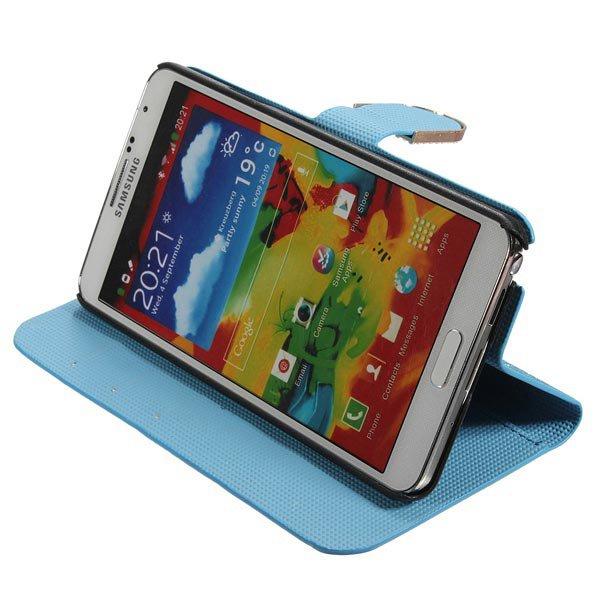 Magnetic Flip Bling Wallet Holder Case For Samsung Galaxy Note 3 N9000