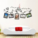 Love Birds Photo Frame Art Removable Wall Sticker Home Decor