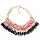 Bohemian Tassels Drop Beads Choker Chain Bib Statement Necklace