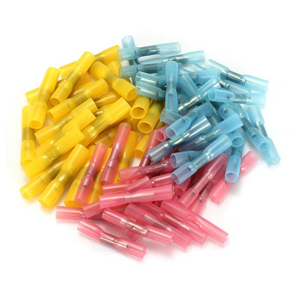 25pcs Heat Shrink Wire Crimp Terminals BUTT Waterproof Connectors Tube
