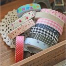 Fabric Washi Tape Roll Decorative Sticky Cotton Adhesive Sticker