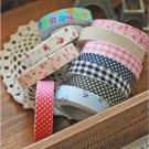 Fabric Washi Tape Roll Decorative Sticky Cotton Adhesive Sticker