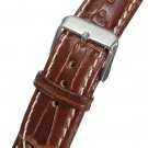 Mens 18mm-22mm Crocodile Pattern Genuine Leather Watch Band