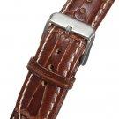 Mens 18mm-22mm Crocodile Pattern Genuine Leather Watch Band