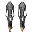 2x Universal Motorcycle LED Turn Signal Indicator Light 12V
