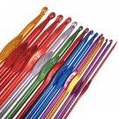 14pcs Multicolor Aluminum Crochet Hooks Knitting Needles