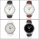 Dalas Fashion Simple Style Leather Quartz Wrist Watch