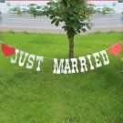 JUST MARRIED Wedding Banner Party Decoration Bunting Garland