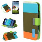 Assorted Color PU Leather Wallet Case For Samsung Galaxy S4 i9500