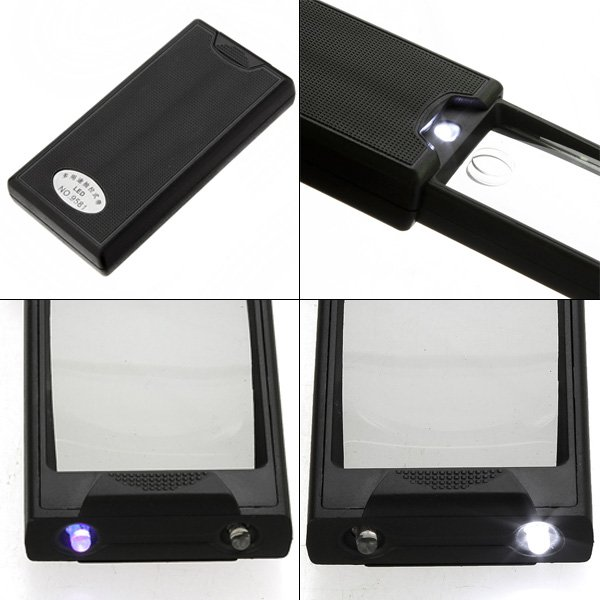New Multipurpose Pullout Type LED 2.5X 45X Loupe Magnifier