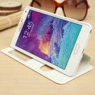 View Window Flip PU Leather Case For Samsung Galaxy Note 4 N9100