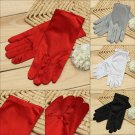 Bridal Wedding Short Satin Gloves Banquet Performing Sleeves