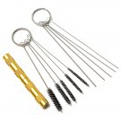 11 Pcs Airbrush Spray Gun Cleaning Repair Tool Kit Needle Brush Set