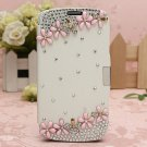 Bling Glitter Diamond PU Leather Flip Case For Samsung Galaxy S4 i9500