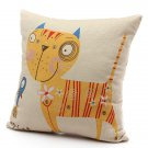 Vintage Linen Cotton Pillow Case Animal Home Decor Cushion Cover