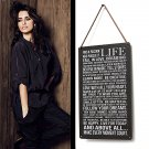 Life Poem Tin Sign Vintage Wall Decor Thanksgiving Day Christmas Gift