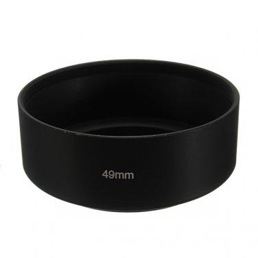 49MM Standard Metal Black Lens Hood For Canon Nikon Sony Pentax