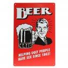 Beer Tin Sign Retro Vintage Metal Plaque Bar Pub Wall Decor Painting