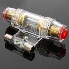 8 Gauge AGU Audio Refit Stereo Fuse Holder Amplifier Wire 60 Amp Fuse