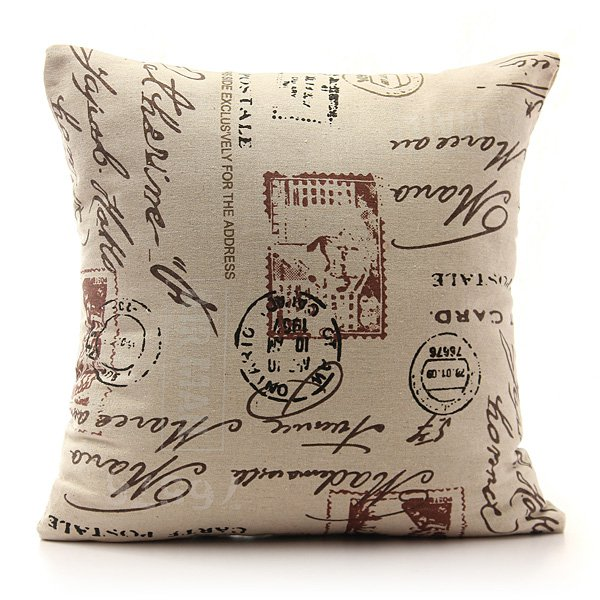 Shabby Chic Linen Pillows : Vintage Shabby Chic Linen Pillow Case Home Bed Decor Cushion Cover