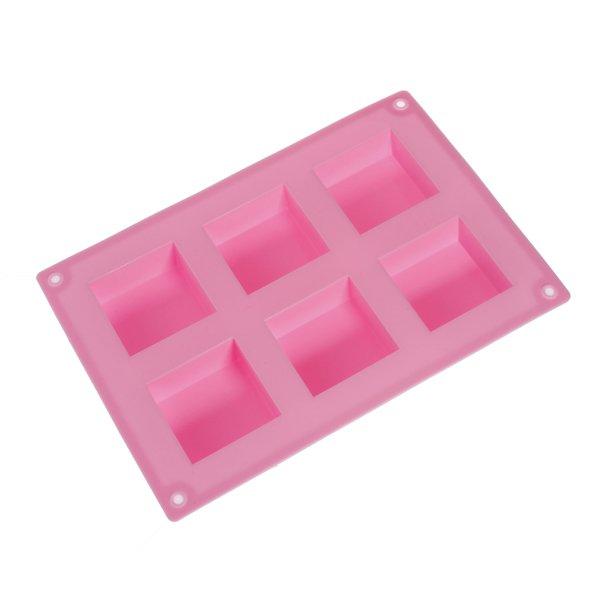 6-Cavity Square Cake Mold