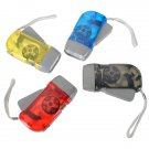 Hand Pressing 3 LED Dynamo Wind UP NB Flashlight Torch Color Optional