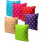 Polka Dot Plus Pillow Case Car Sofa Back Waist Cushion Cover