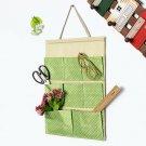 Cotton Polka Dot Pockets Wall Door Hanging Storage Bag