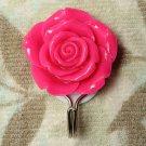 Self Adhesive Rose Wall Hook Towel Coat Door Hanger Sticky Holder