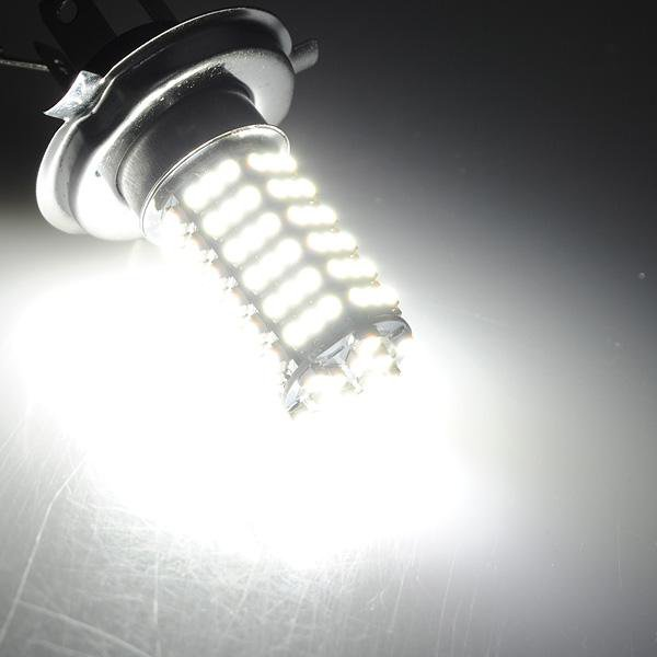 Car 120 LED 3528 SMD H4 White Fog Driving Light Headlight Bulb