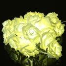 20 LED Romantic Rose Flower Fairy String Light For Wedding Party