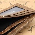 Men's Leather Bifold Wallet ID Business Credit Card Holder