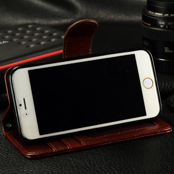 Luxury Design Wallet PU Leather Case Cover For iPhone 6