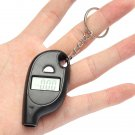 Mini Keychain LCD Digital Car Tyre Tire Wheel Air Pressure Gauge Black