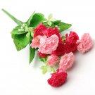 1 Bouquet Artificial Carnation Lilac Silk Flowers Home Decor
