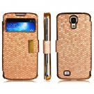 Synthetic Leather Magnetic Flip Case for Samsung Galaxy S4 i9500